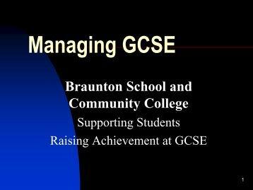 Advice on GCSE coursework