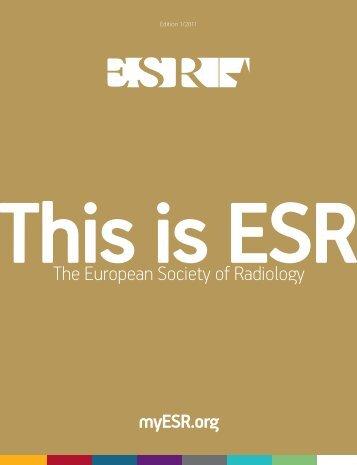 Edition 1/2011 - myESR.org