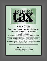 Ohio CAT - MEC Seminars & Conferences
