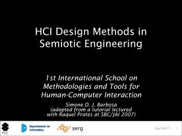HCI Design Methods in Semiotic Engineering - FMIS Website