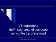 L'integrazione dell'insegnante di sostegno nei ... - USP di Piacenza