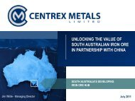Joint Ventures for magnetite on the Eyre Peninsula