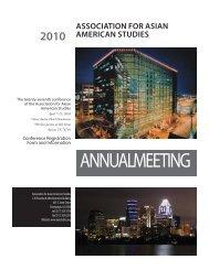 2010 Conf reg form.indd - Association for Asian American Studies