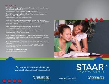 STAAR Brochure for parents - Region 13