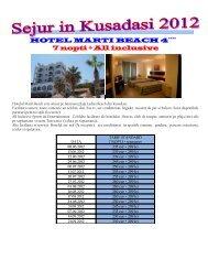 HOTEL MARTI BEACH 4**** 7 nopti + All inclusive - Corali