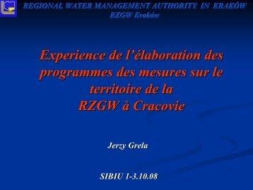 REGIONAL WATER MANAGEMENT AUTHORITY IN ... - INBO
