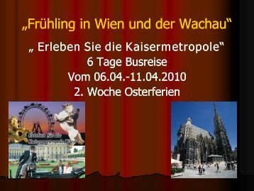 "Frühling in Wien und der Wachau"" ""Frühling in Wien ... - Lks-reisen.de"