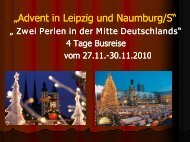 "Advent in Leipzig und Naumburg/S"" ""Advent in ... - Lks-reisen.de"