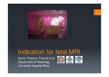 Indication for fetal MRI
