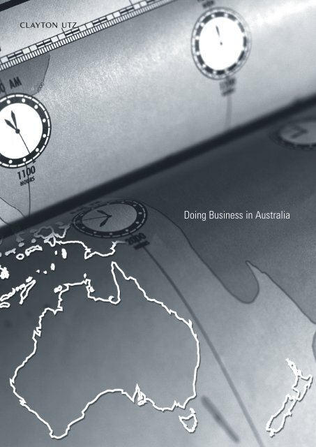Doing Business in Australia - Pacific Rim Advisory Council (PRAC)