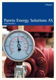 Pareto Energy Solutions AS - Pareto Project Finance