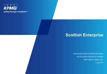 Scottish Enterprise (PDF | 315 KB) - Audit Scotland