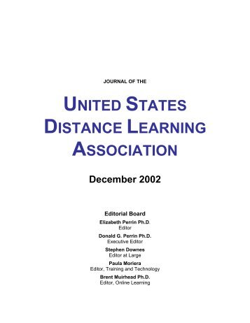 Download the complete PDF of this issue - United States Distance ...