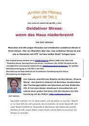 Oxidativer Stress: wenn das Haus niederbrennt
