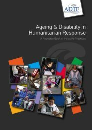 Aging and Disability in Humanitarian Response - CBM