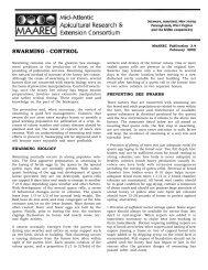 Swarming-It's prevention & control - University of Delaware