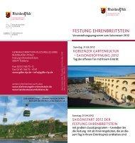 Saisonstart 2012 web - Generaldirektion Kulturelles Erbe Rheinland ...