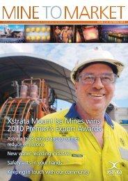 MINE TO MARKET October 2010 - Mount Isa Mines