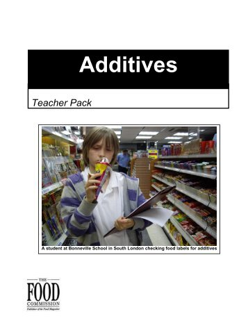 Additives - The Food Commission