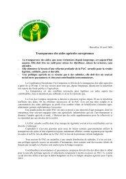 Transparence des aides agricoles européennes - CNA