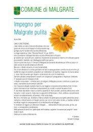 Impegno per Malgrate pulita COMUNE di MALGRATE