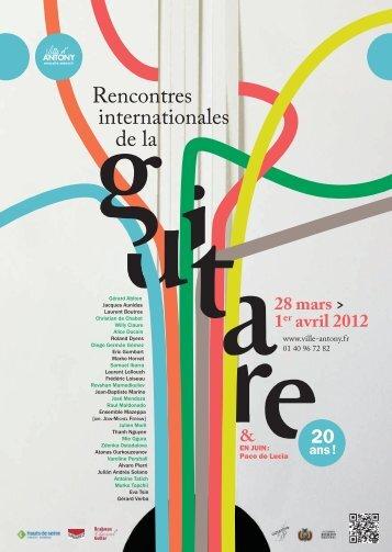 Le programme des rencontres internationales de la Guitare 2012