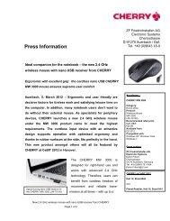 Press Information - Cherry