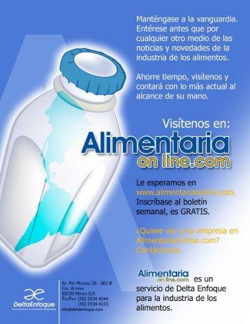 Acuerdo Canacintra-Senasica - AlimentariaOnline