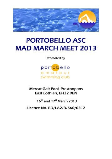 PORTOBELLO ASC MAD MARCH MEET 2013 - Swim Scotland