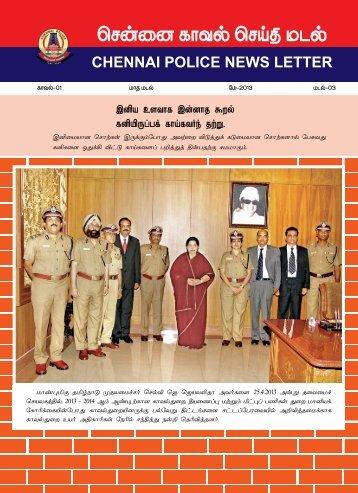 Chennai Police News Letter - May - Tamil Nadu Police