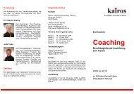 Coaching - kairos. Coaching, Consulting, Training
