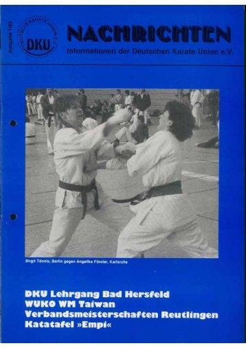 DKU-Nachrichten Nr. 1 - Chronik des deutschen Karateverbandes