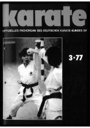 DKB-Fachorgan Nr. 3 - Chronik des deutschen Karateverbandes
