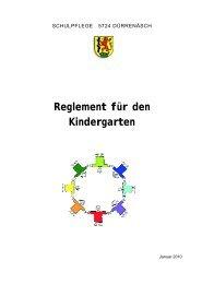 Reglement für den Kindergarten