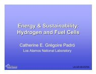 Energy & Sustainability: Hydrogen and Fuel Cells