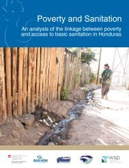 Poverty and Sanitation in Honduras (WSP) - The Water, Sanitation ...