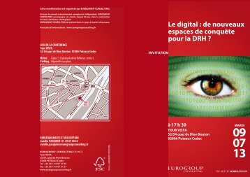 Le digital - Eurogroup Consulting