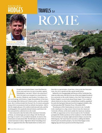 hodges-travel-2012-08 - The American University of Rome