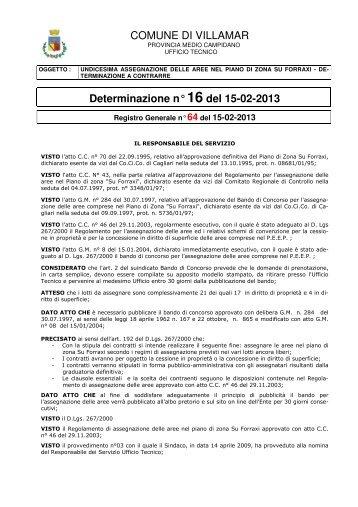 Scarica la Determina Ufficio Tecnico n. 16/2013 (Pdf 74 Kb)
