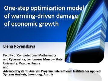 One-step optimization model of warming-driven damage of ...