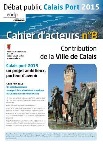 Cahier d'acteurs n°8 - Ville de Calais