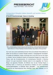 PRESSEBERICHT - JU Passau Land