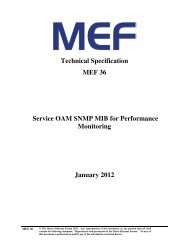 Technical Specification MEF 36 Service OAM SNMP MIB for ...