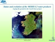 Status and evolution of the MERIS Level-2 water products