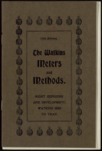 WATKINS METERS. The Bee Meter