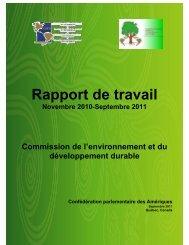 Rapport de travail 2010-2011 - COPA