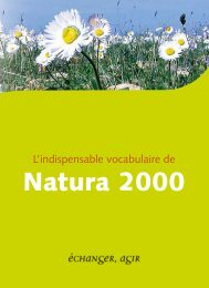L'indispensable vocabulaire de Natura 2000 - DREAL Paca