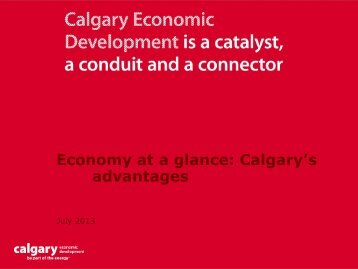 July 2013 - Calgary Economic Development