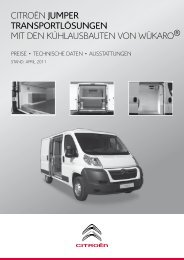 Preisliste Wükaro Kühlausbauten Jumper  [PDF] - Citroën