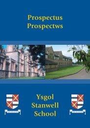 Ysgol Stanwell School Prospectus Prospectws